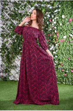 Лаконичное длинное платье