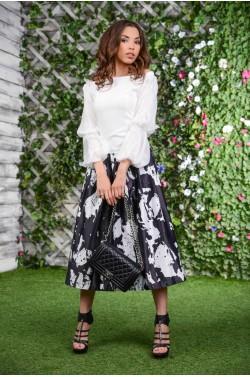 Костюм : шикарная юбка+блуза