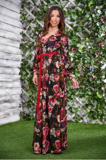 Длинное шёлковое платье