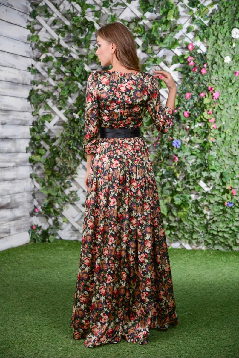 Шикарное шёлковое платье