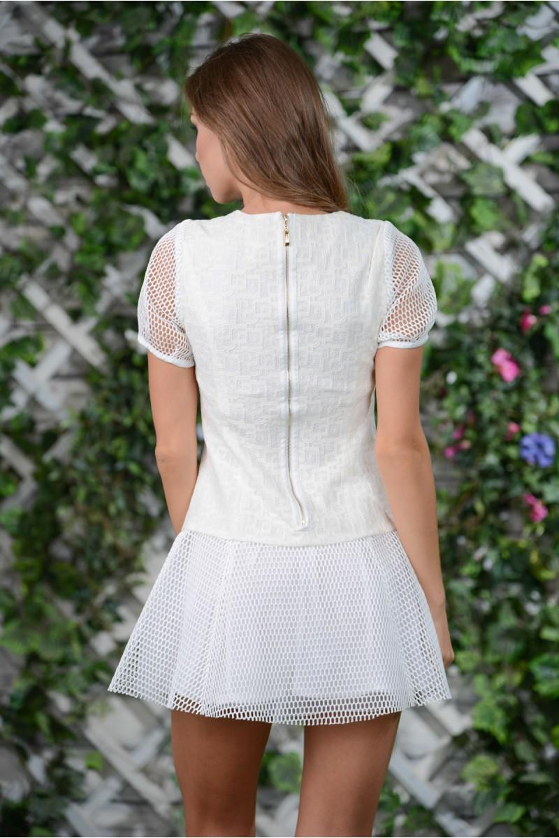 Оригинальное белое платье