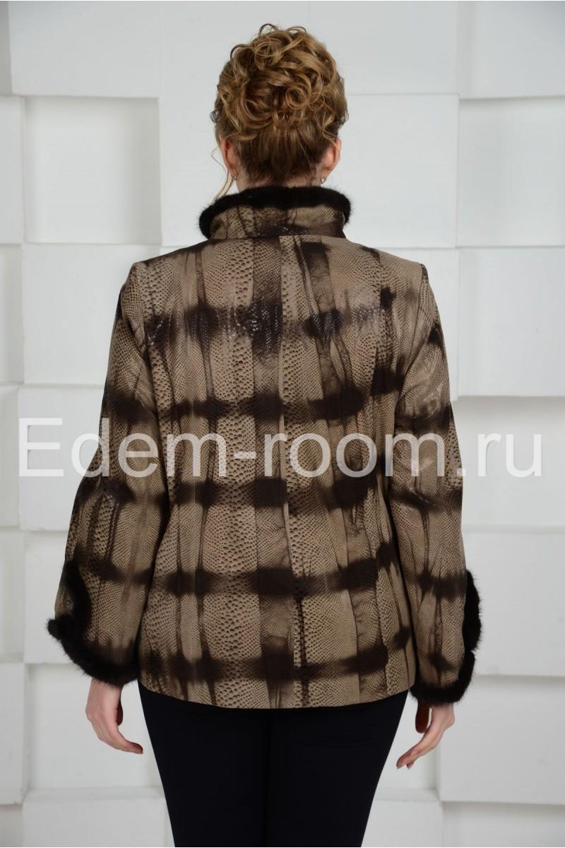 Оригинальная кожаная куртка для дам