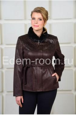 Укороченная  коричневая куртка