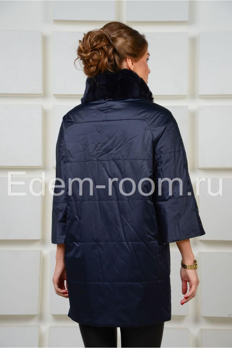 Двухсторонняя куртка с меховым воротником