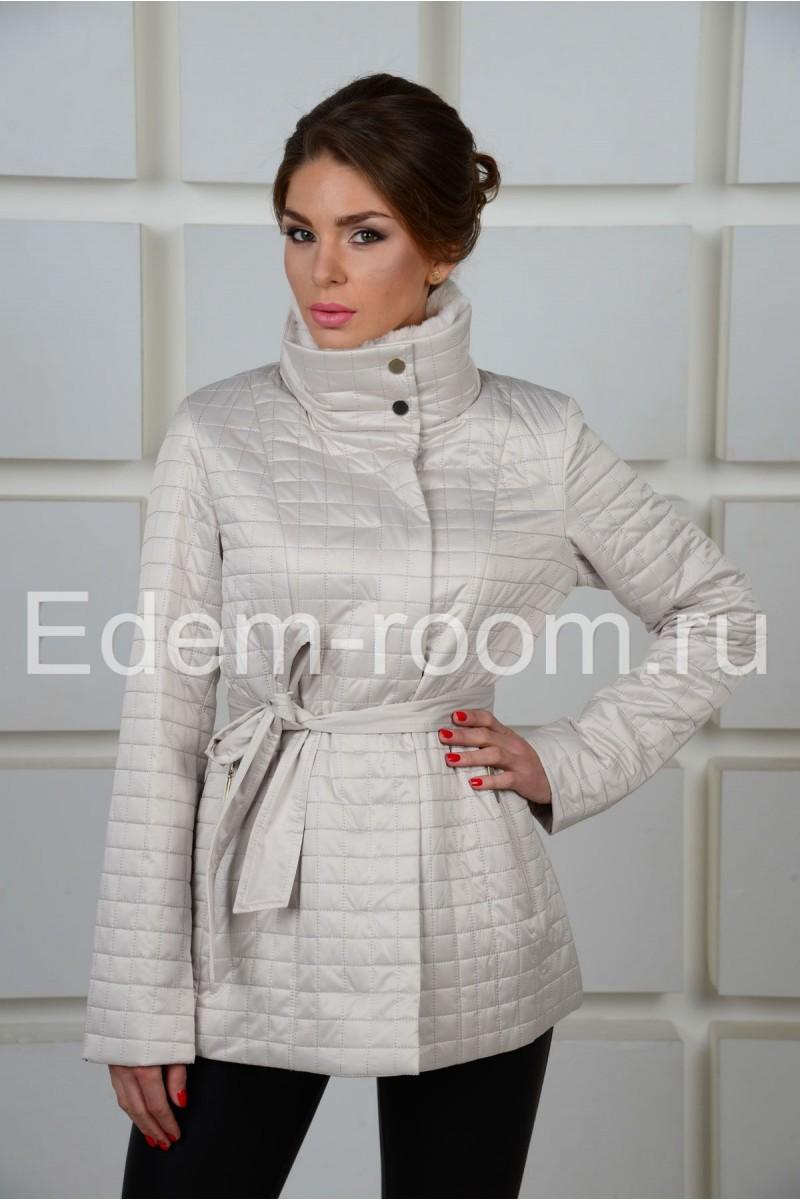Стильная белая  куртка