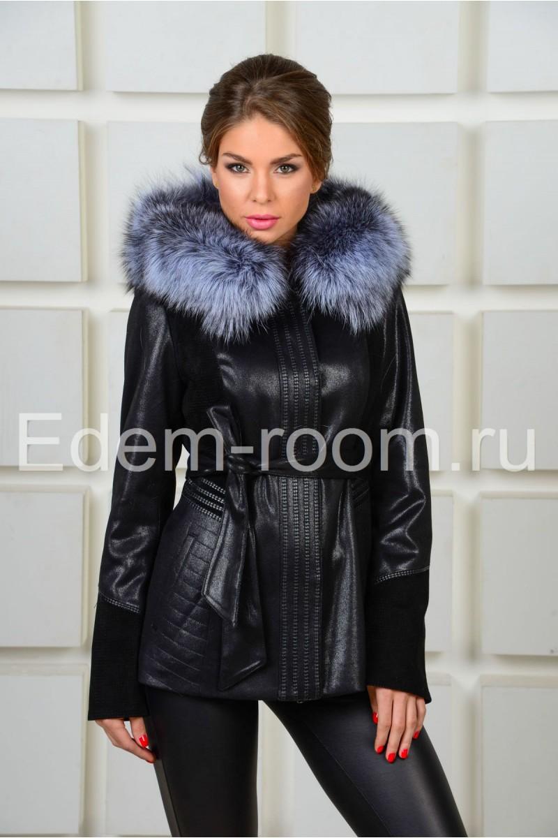 Демисезонная куртка с мехом