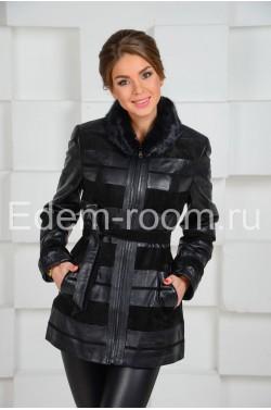 Женская демисезонная замшевая  куртка