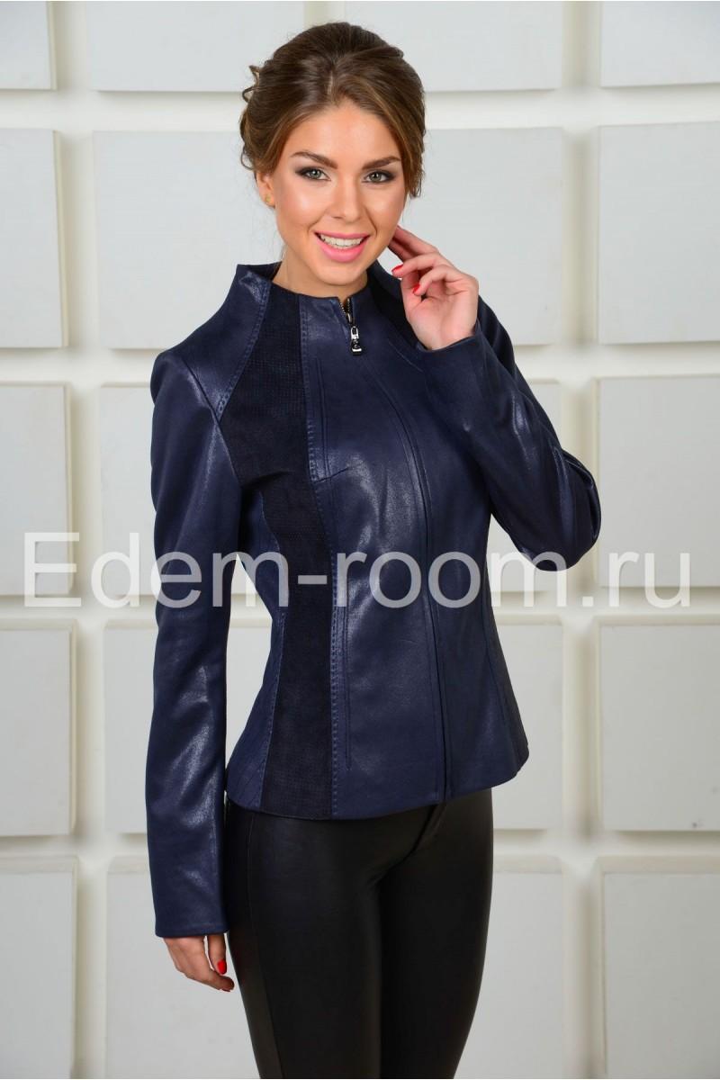 Куртка синяя  для женщин