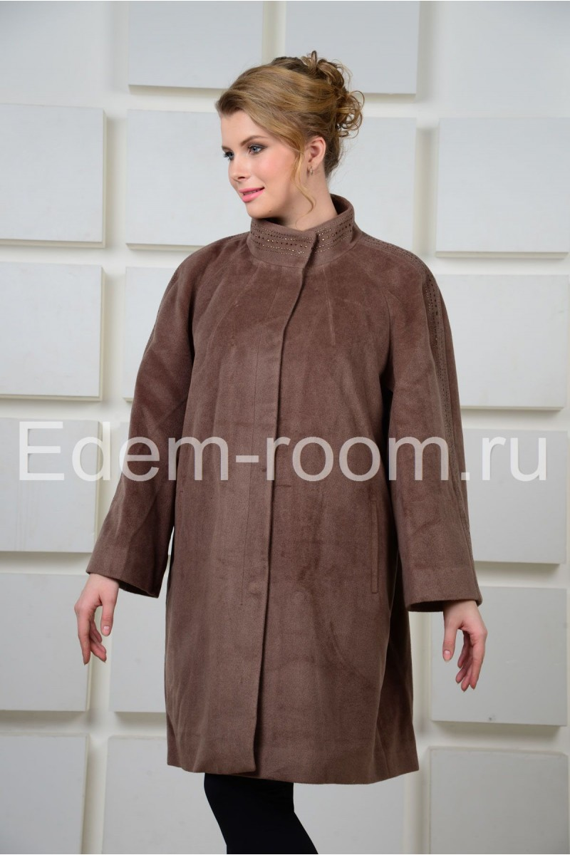 Кашемировое пальто больших размеров