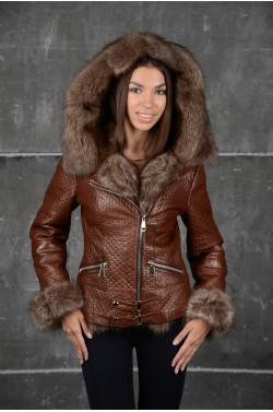 Стильная зимняя кожаная куртка. Новая коллекция!!!
