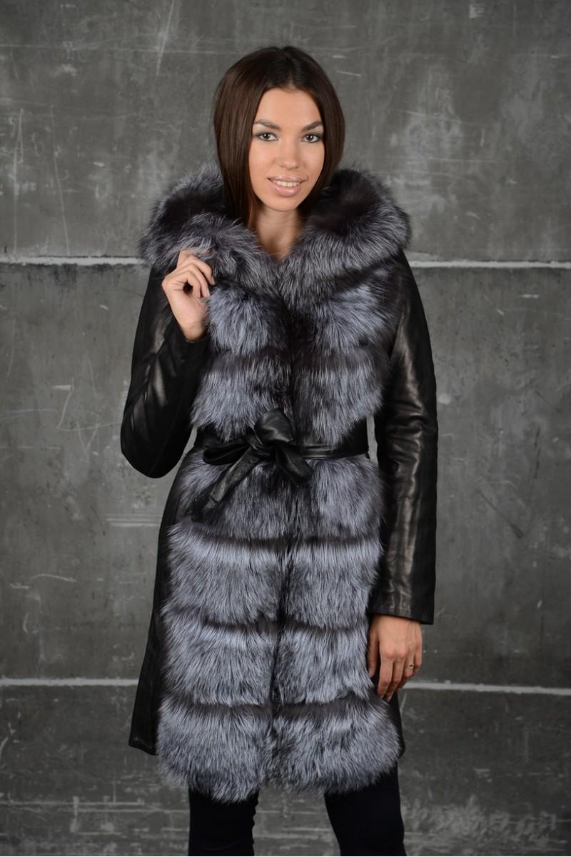 Стильная  кожаная куртка - жилетка