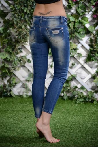 Укороченные джинсы -лосины
