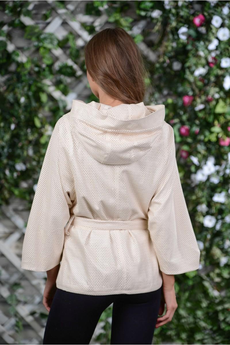 Куртка из перфорированной эко-кожи