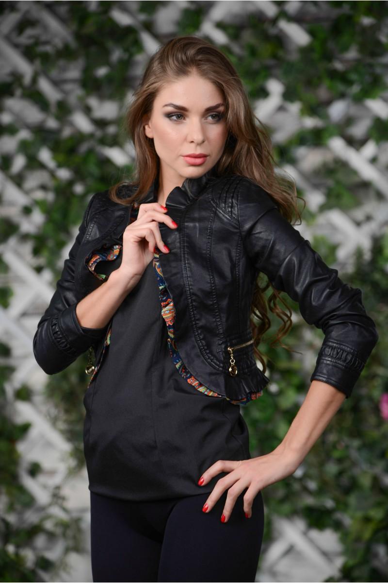 Чёрная куртка-болеро