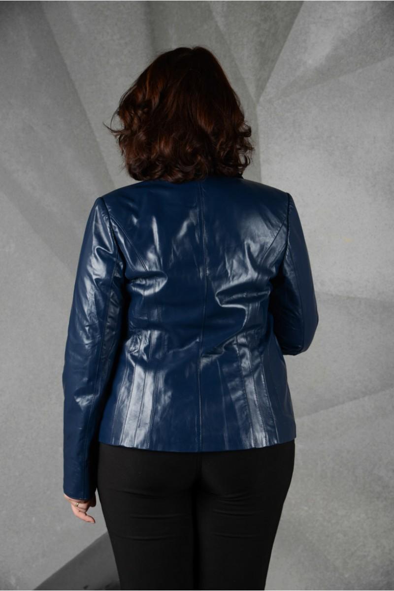 Стильный кожаный пиджак на большие размеры