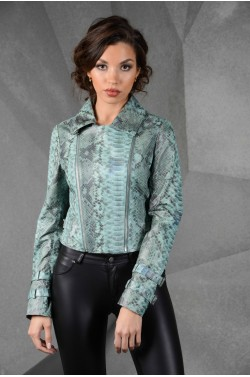Кожаная женская куртка - косуха