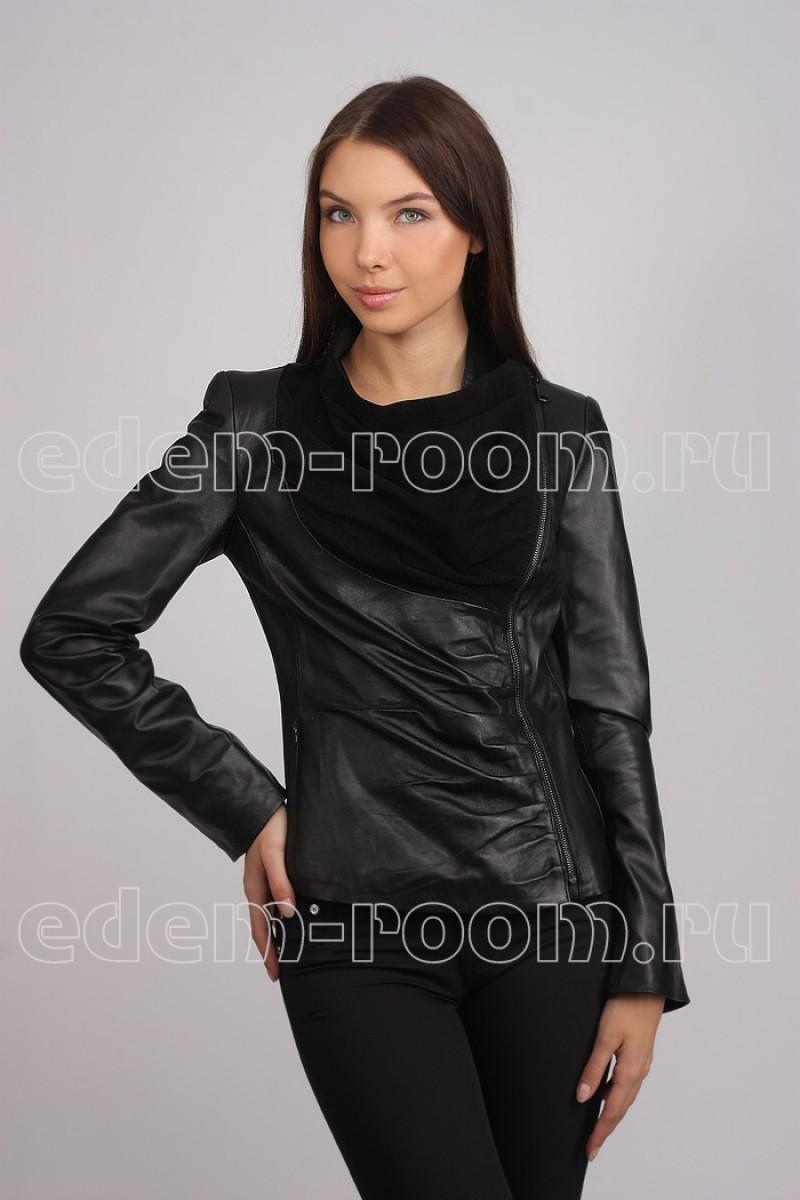 Стильная кожаная куртка Graziosa.