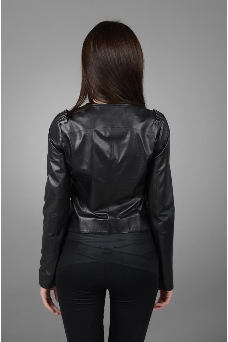 Новинка! Короткая женская кожаная куртка