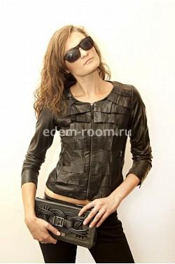 Женская кожаная куртка yновинка