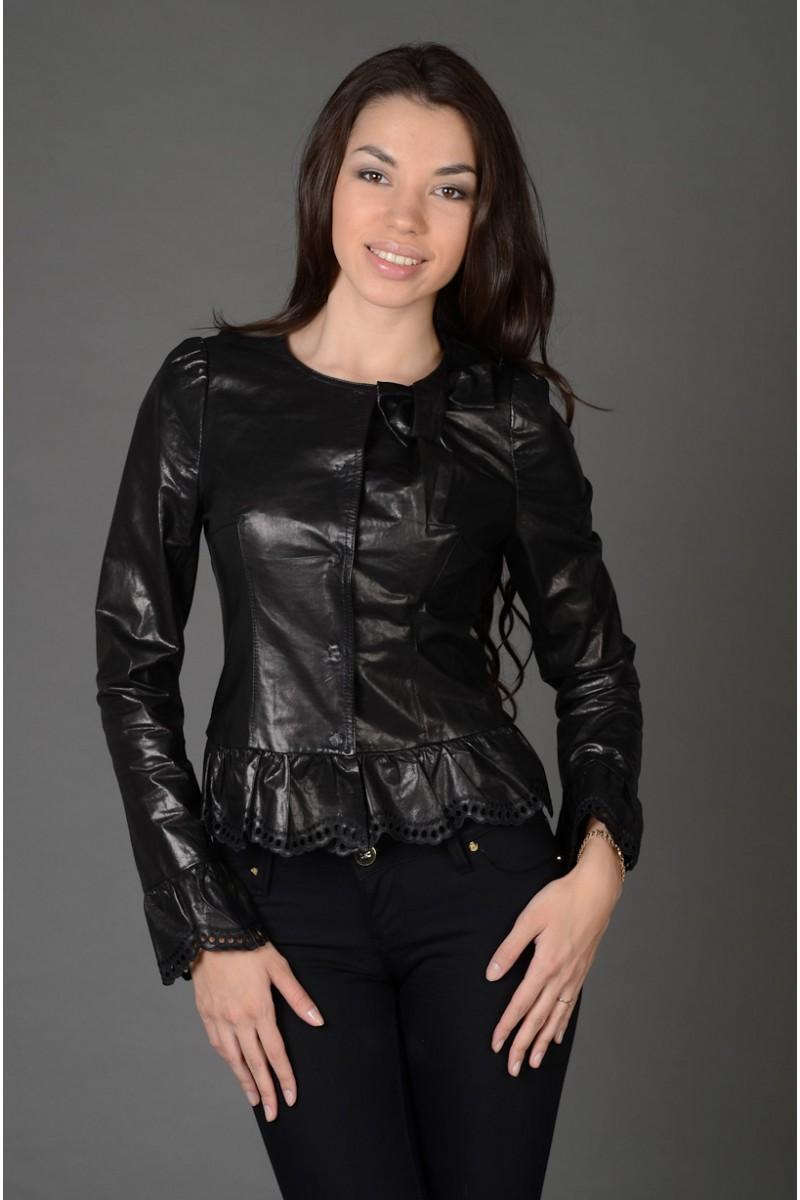 Женская кожаная куртка весна - лето 2013!