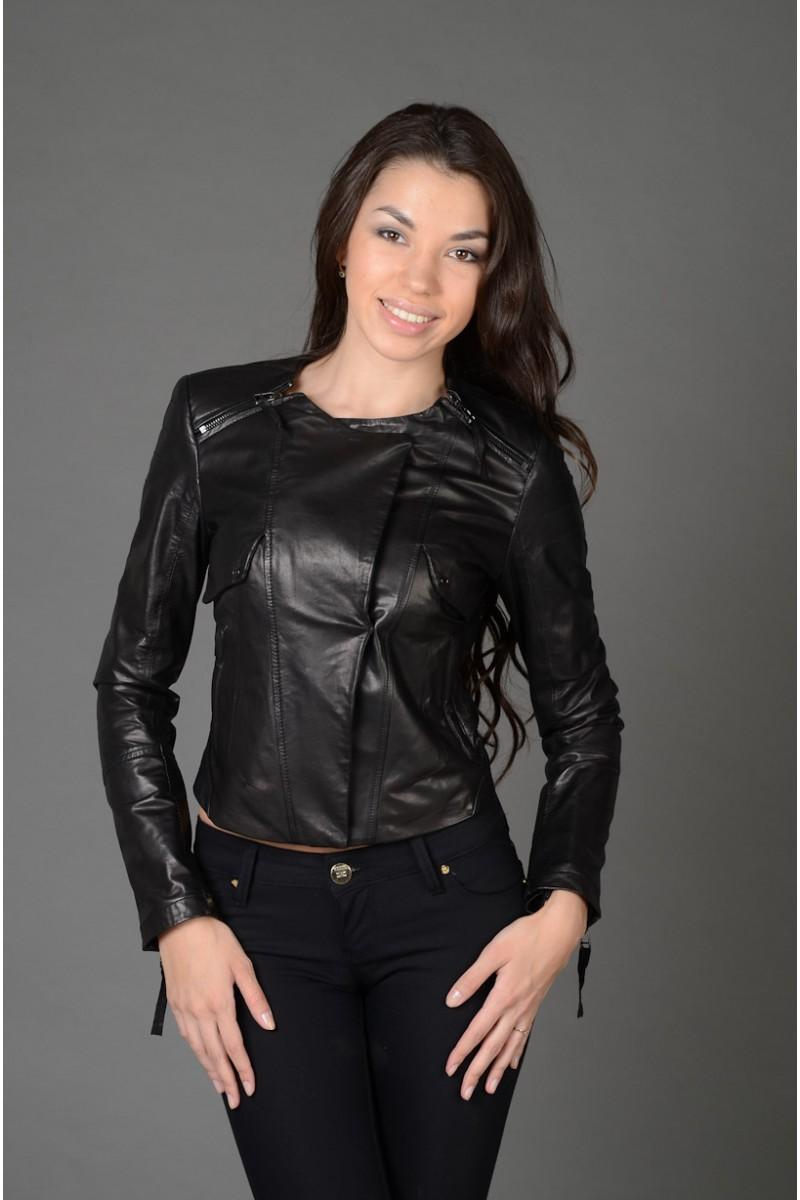 Женская кожаная куртка Новинка