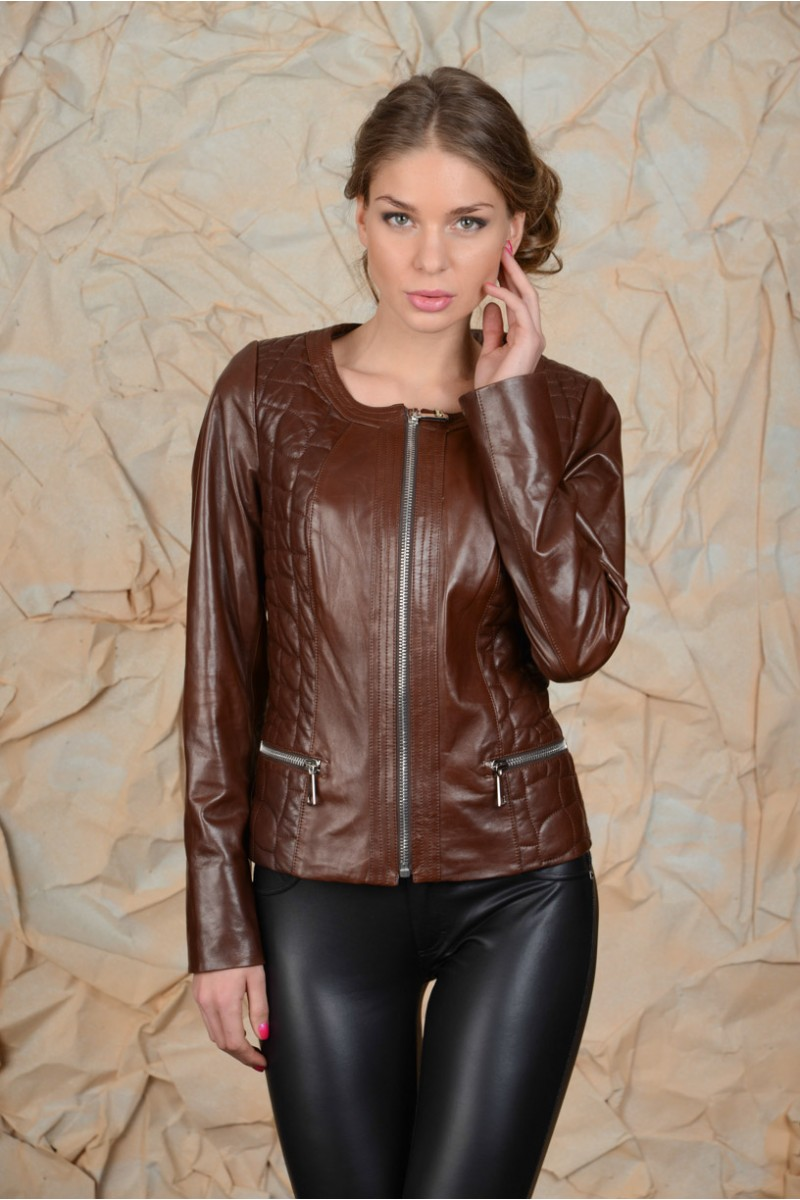 Тёмно-коричневая куртка
