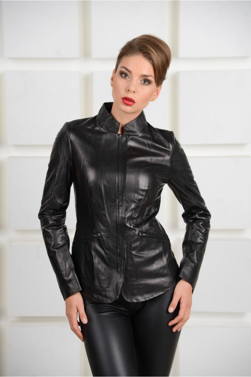Новинка.Кожаная черная  куртка.