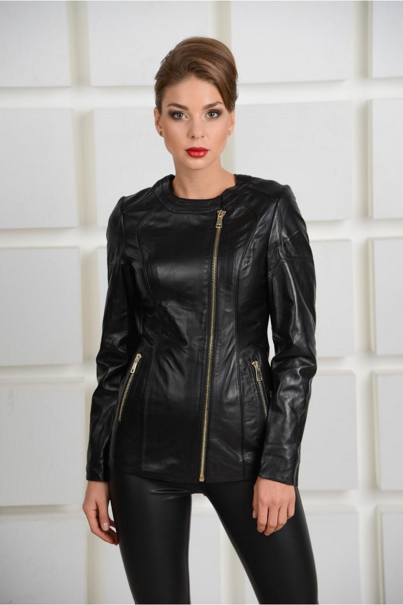 Куртка стильная кожаная