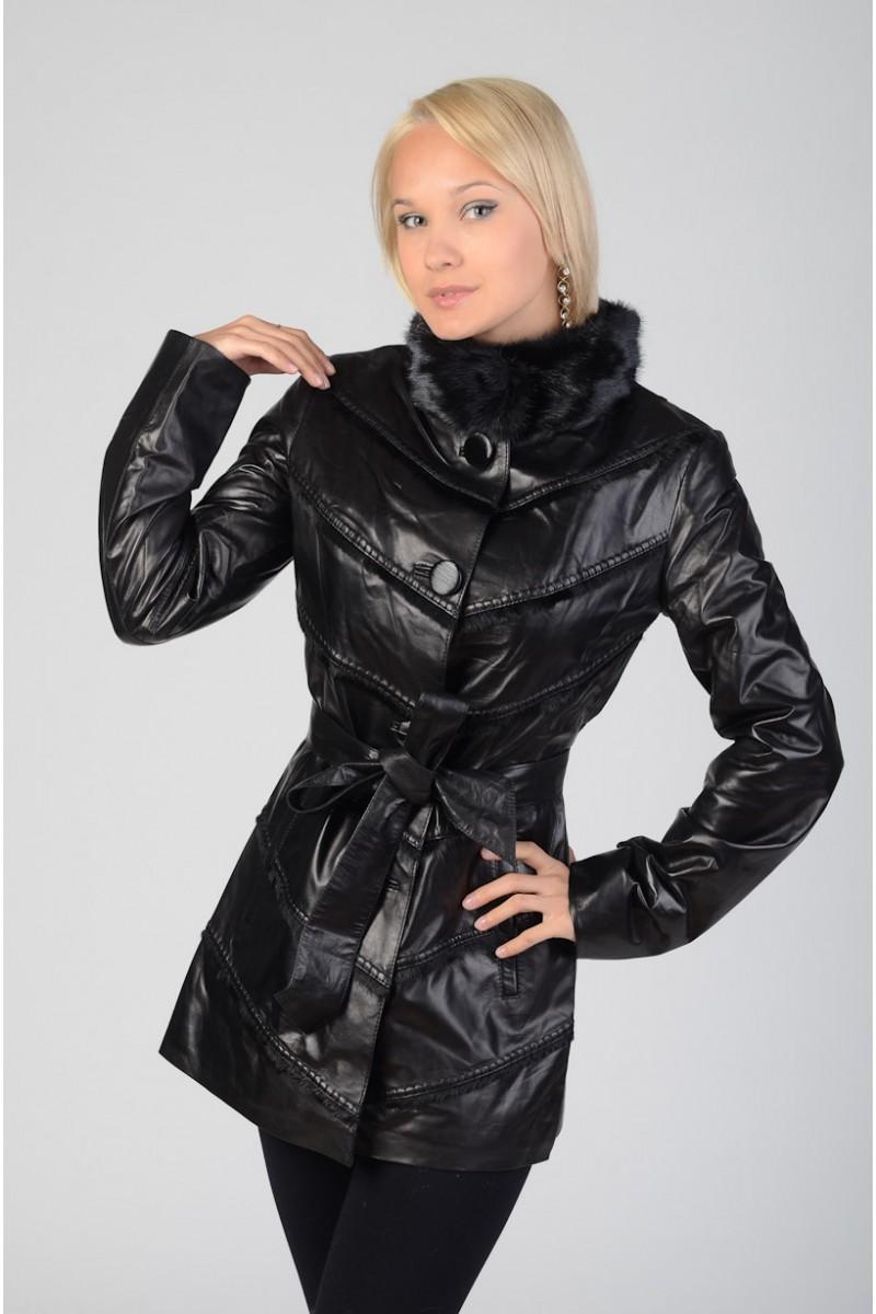 Женская кожаная куртка 2013