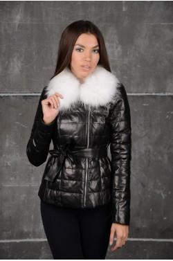 Молодежная кожаная куртка .