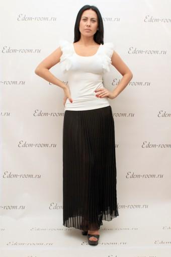 Длинная чёрная плиссированная юбка