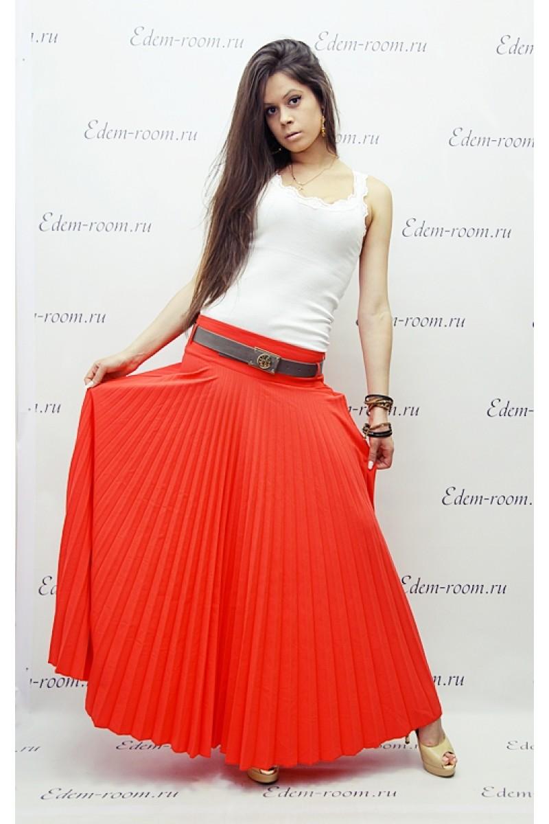 Длинная плиссированная  юбка SOGO