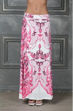 Яркая длинная юбка