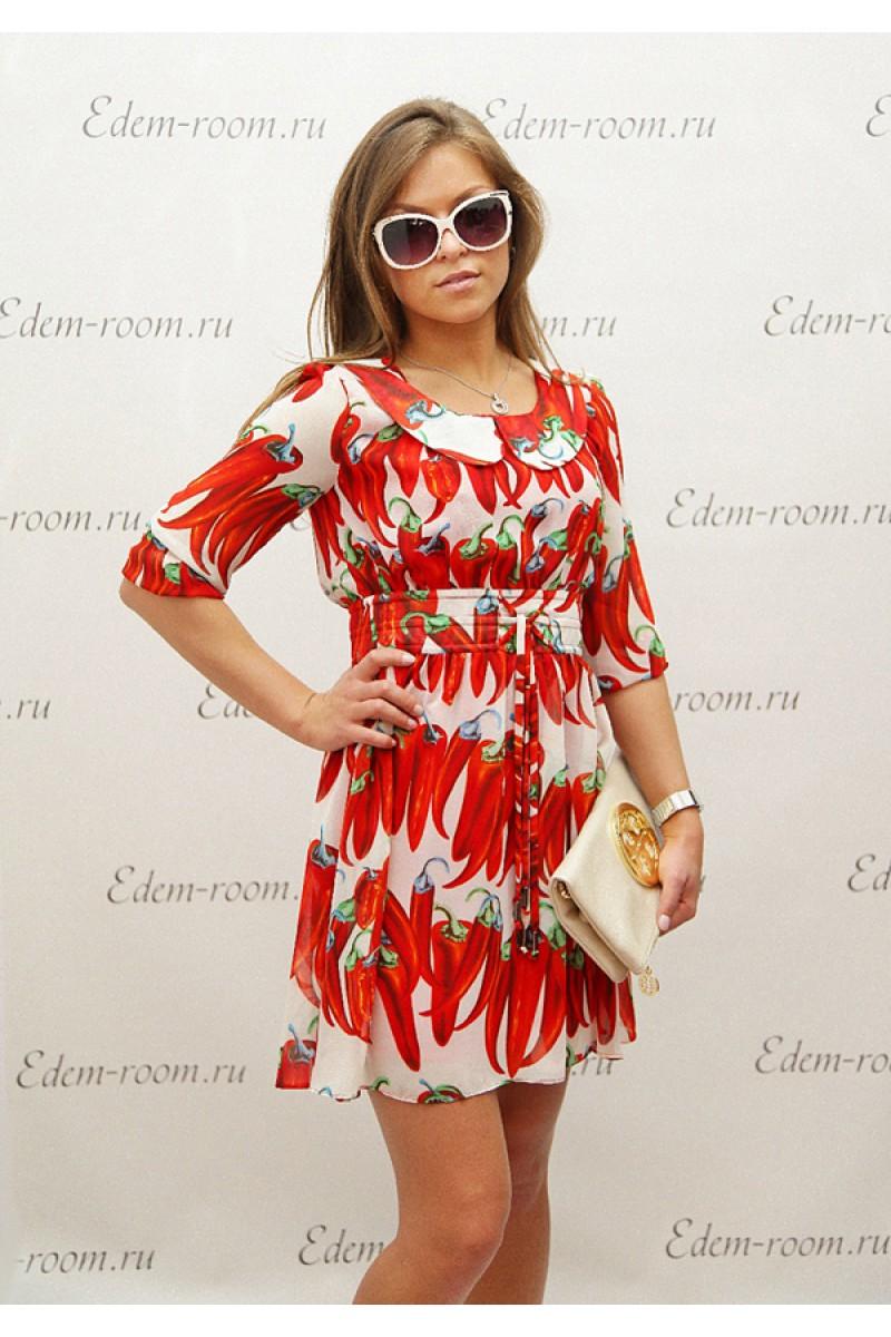 Яркое летнее лёгкое платье