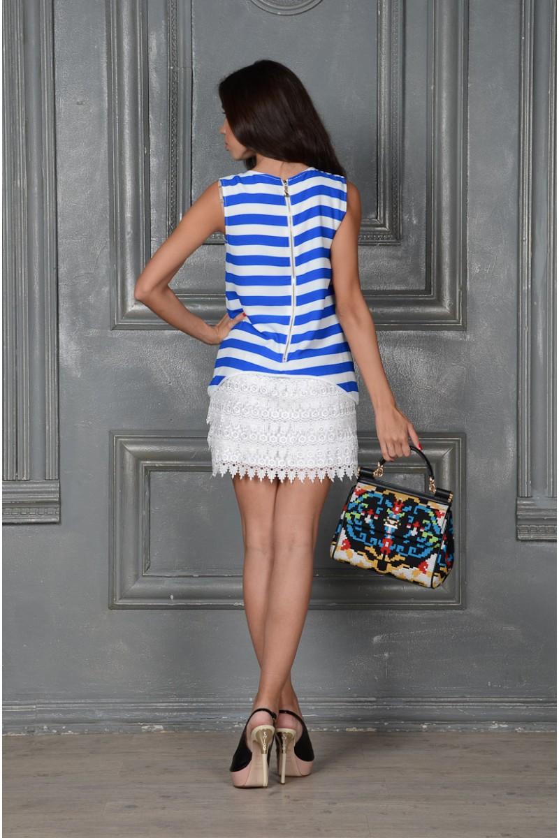 Летнее платье в морском стиле
