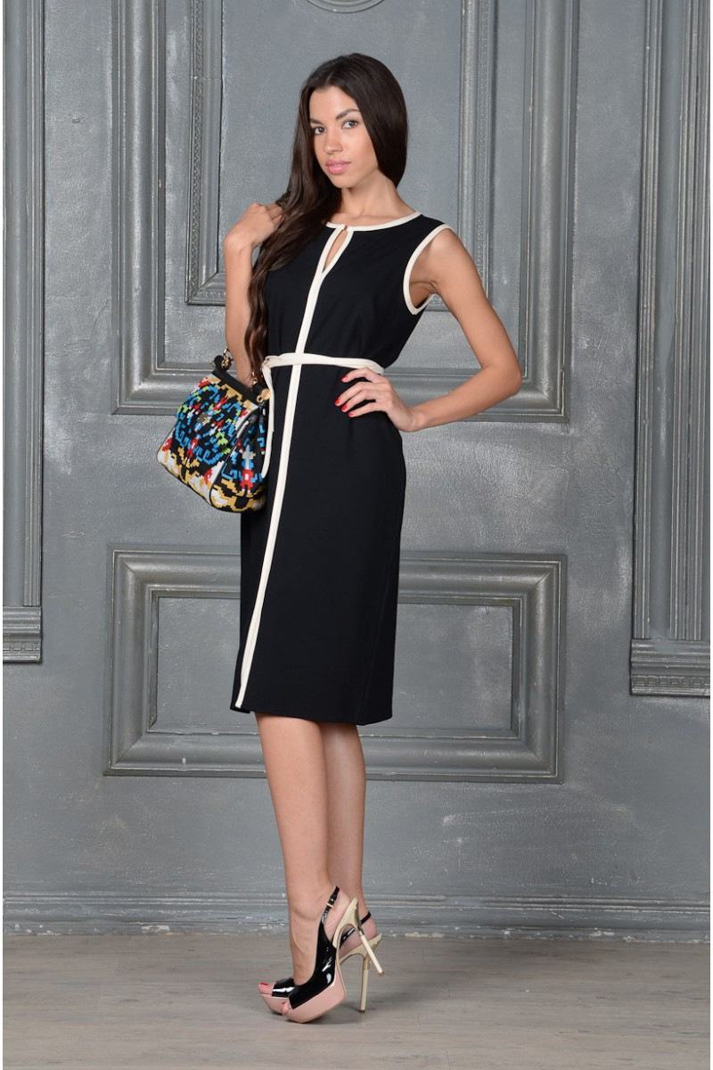 Стильное чёрное платье