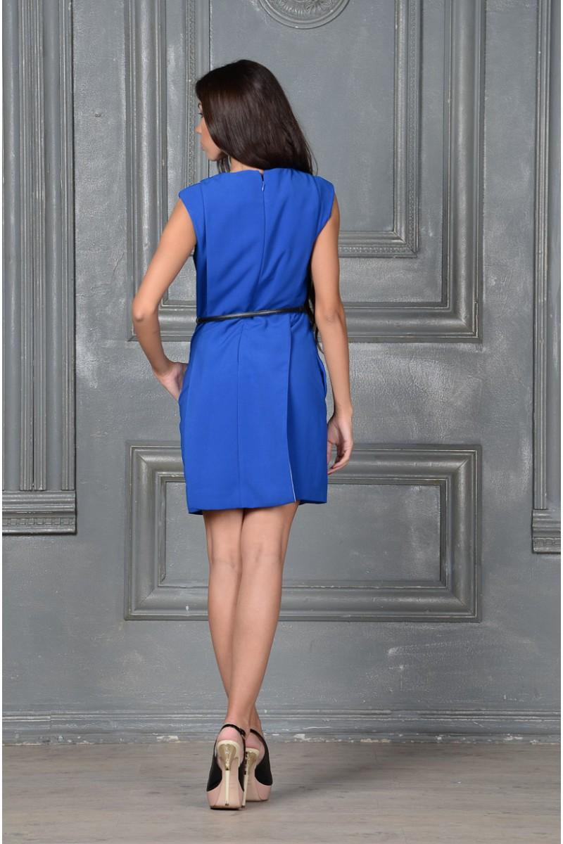 Стильное синее платье