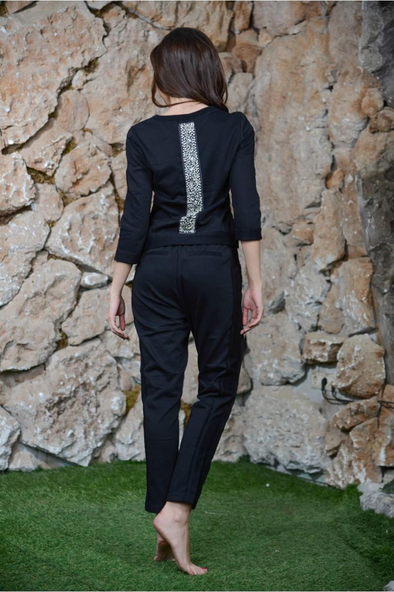 Чёрный трикотажный костюм PINKO