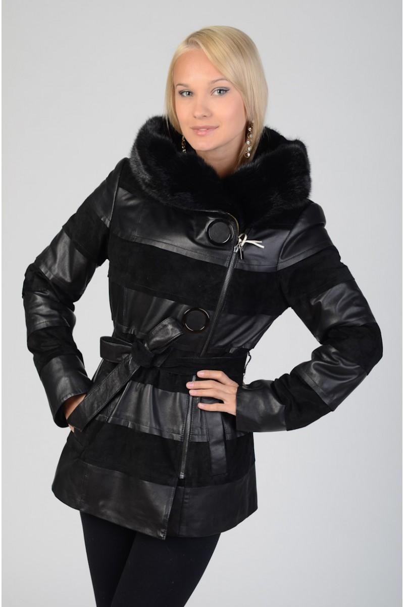Куртка с мехом норки