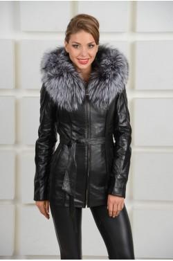Куртка зимняя из кожи