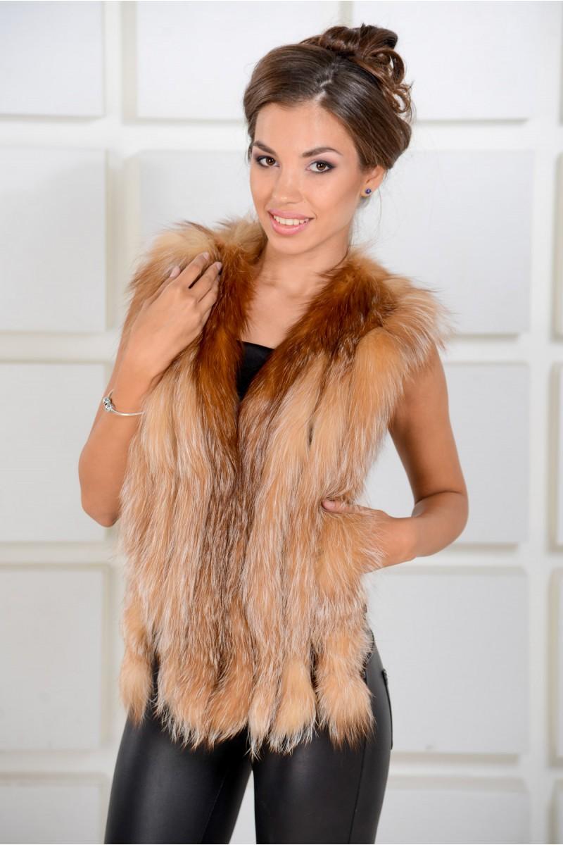 Жилетка из меха лисы - новая коллекция!
