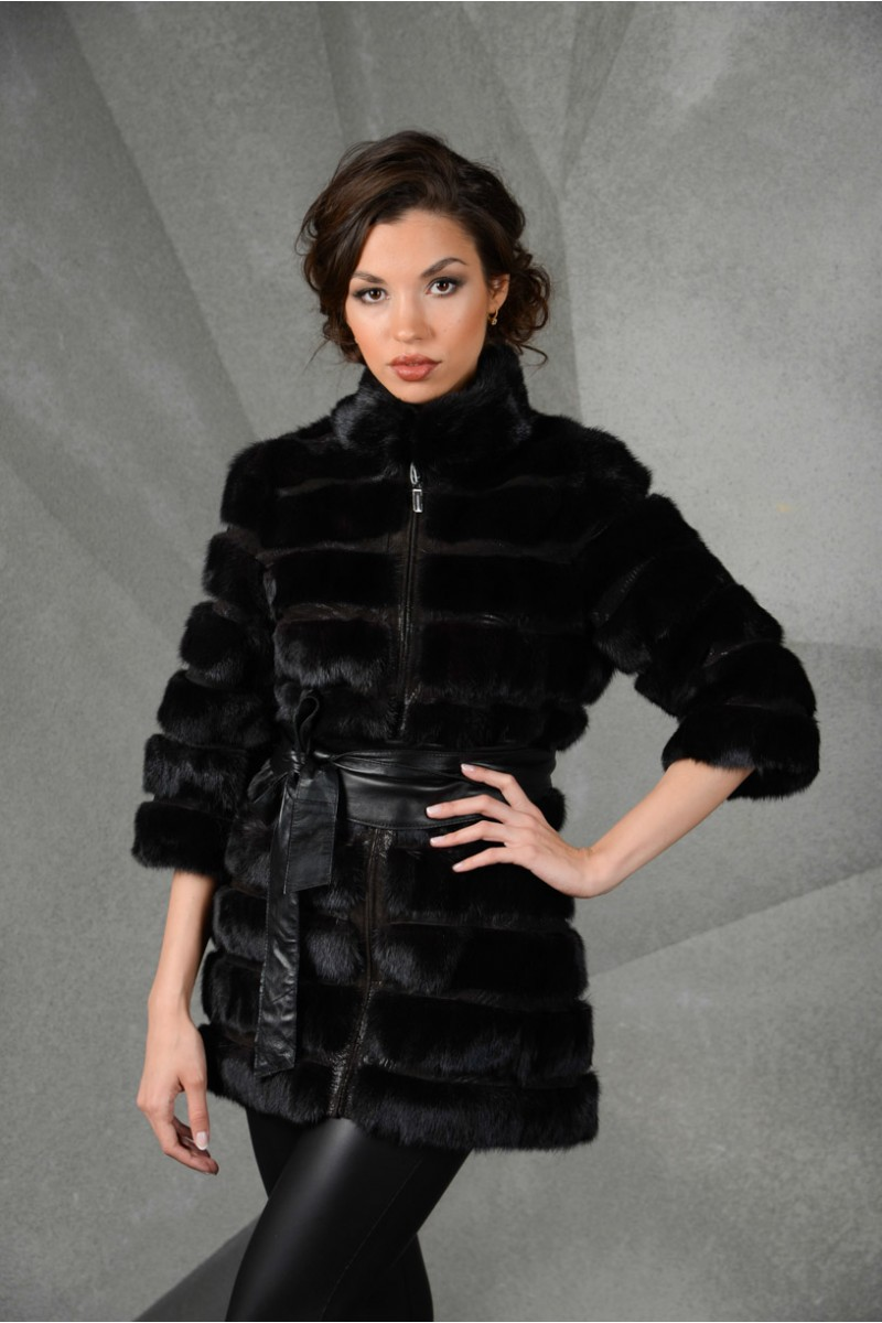 Черная куртка из Норки (поперечка)