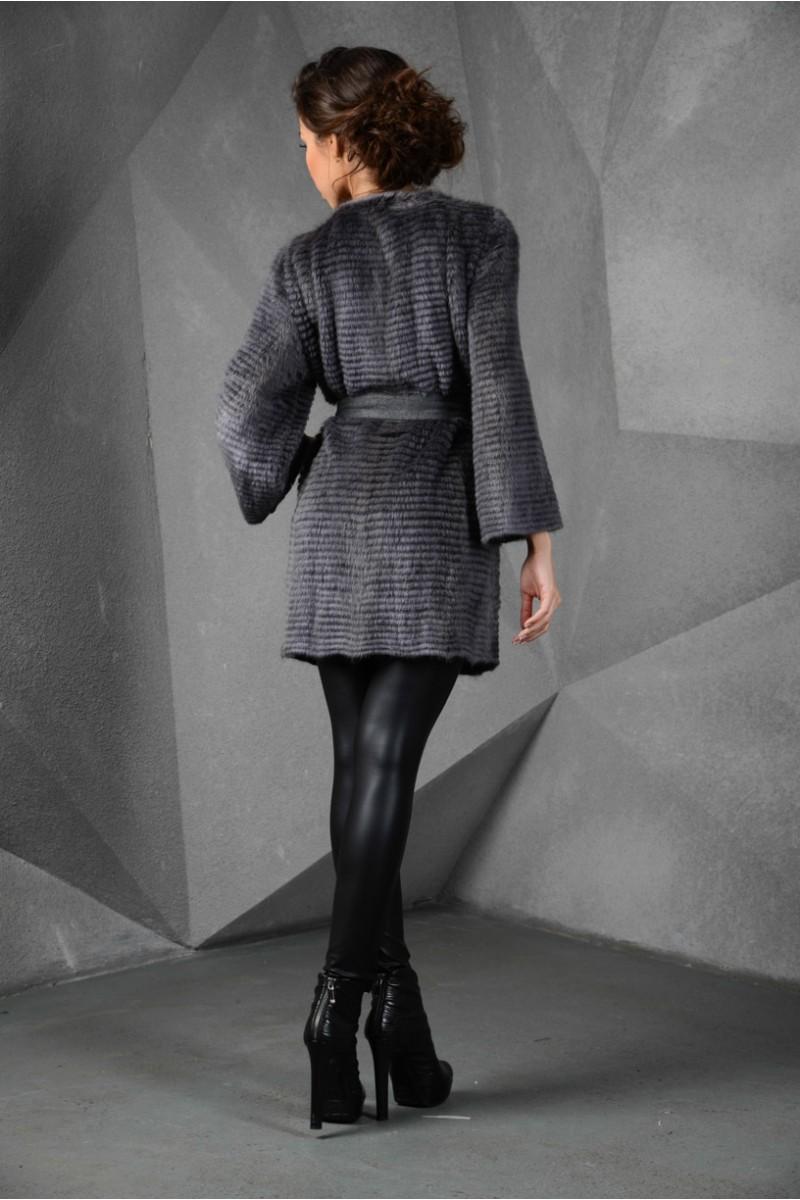 Пальто из норки облегченная