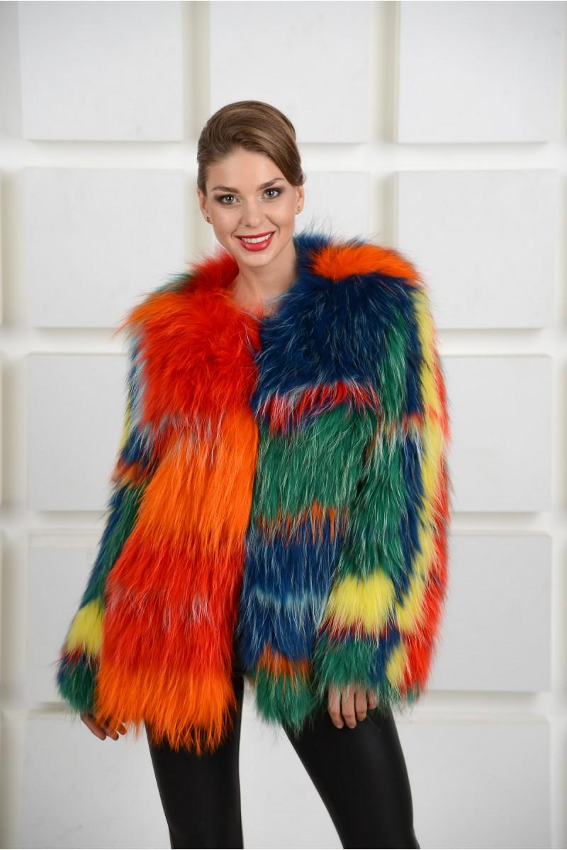 Меховое пальто из енота