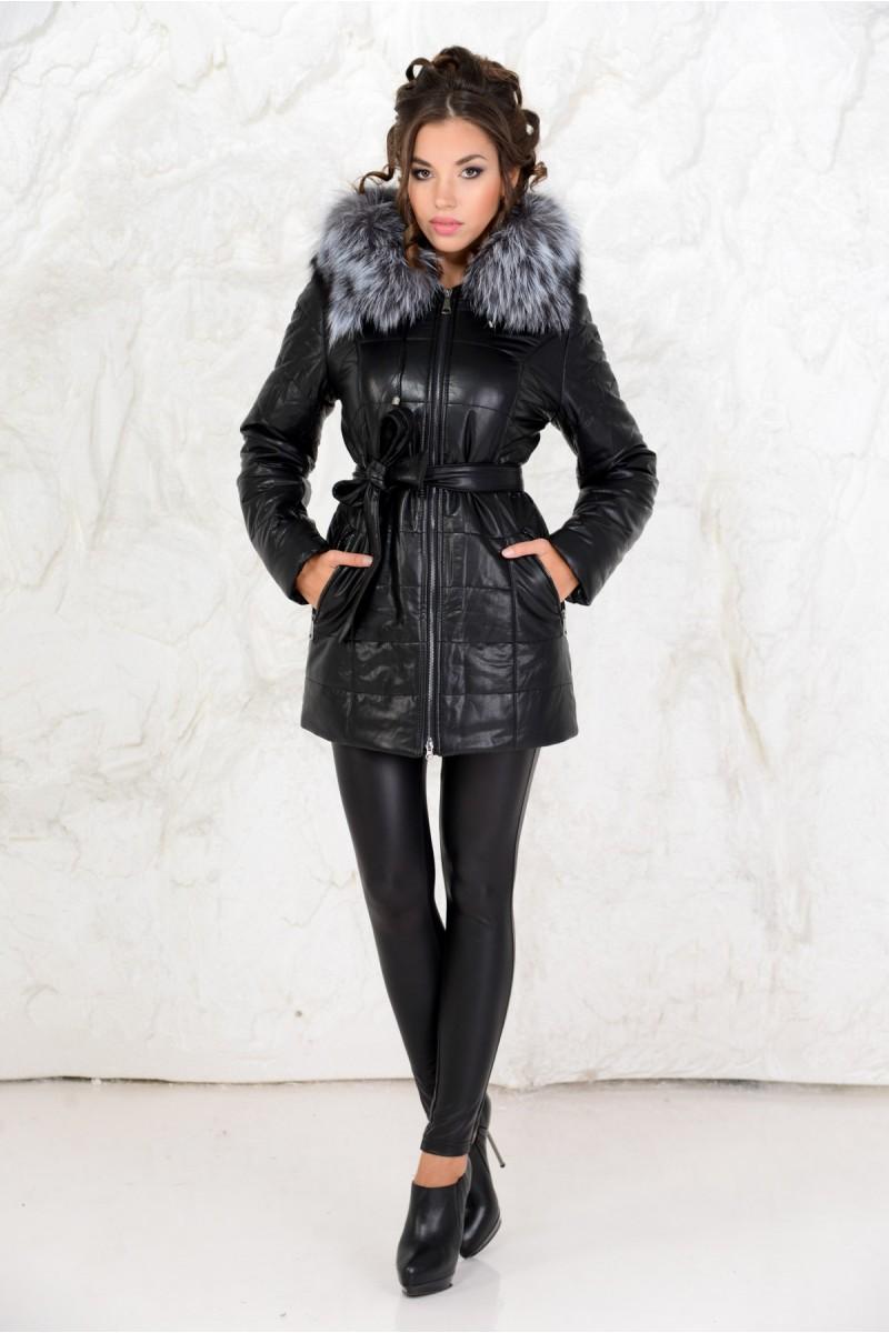 Тёплая куртка на зиму с мехом